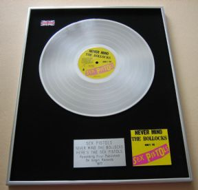 SEX PISTOLS - NEVER MIND THE BOLLOCKS HERE'S THE SEX PISTOLS PLATINUM LP Presentation Disc